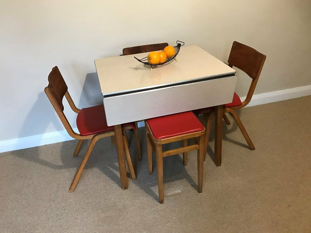 1950 s yellow formica table and chairs skirted parsons vintage 60 39s top ext kitchen with 3
