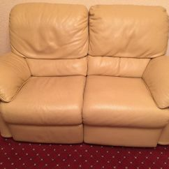 Two Seater Recliner Sofa Gumtree Leather Repair Austin Natuzzi Cream 3 And 2 Recliners