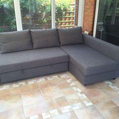 Corner Sofa Bed With Storage Friheten Manual Elmo And Cookie Monster Flip Open Slumber Ikea New
