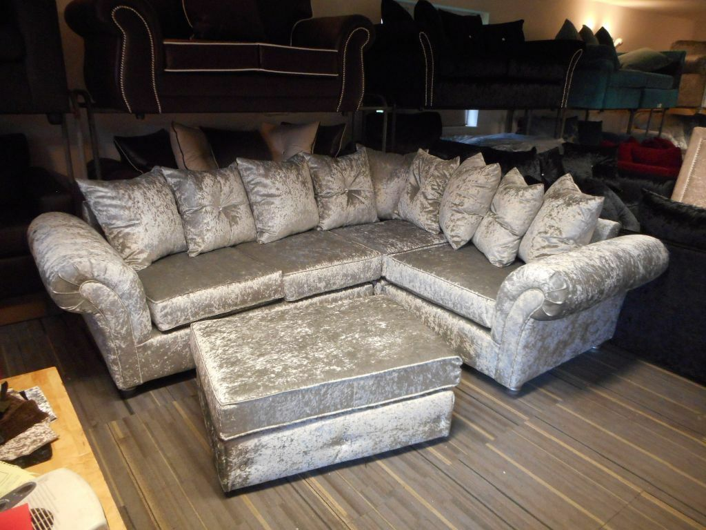 black leather sofas on gumtree french provincial sofa and loveseat brand new silver crushed velvet corner / group ...