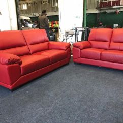 Red Leather Two Seater Sofa Julington Transitional Sectional 2 Rp Seat Nordvalla Ikea