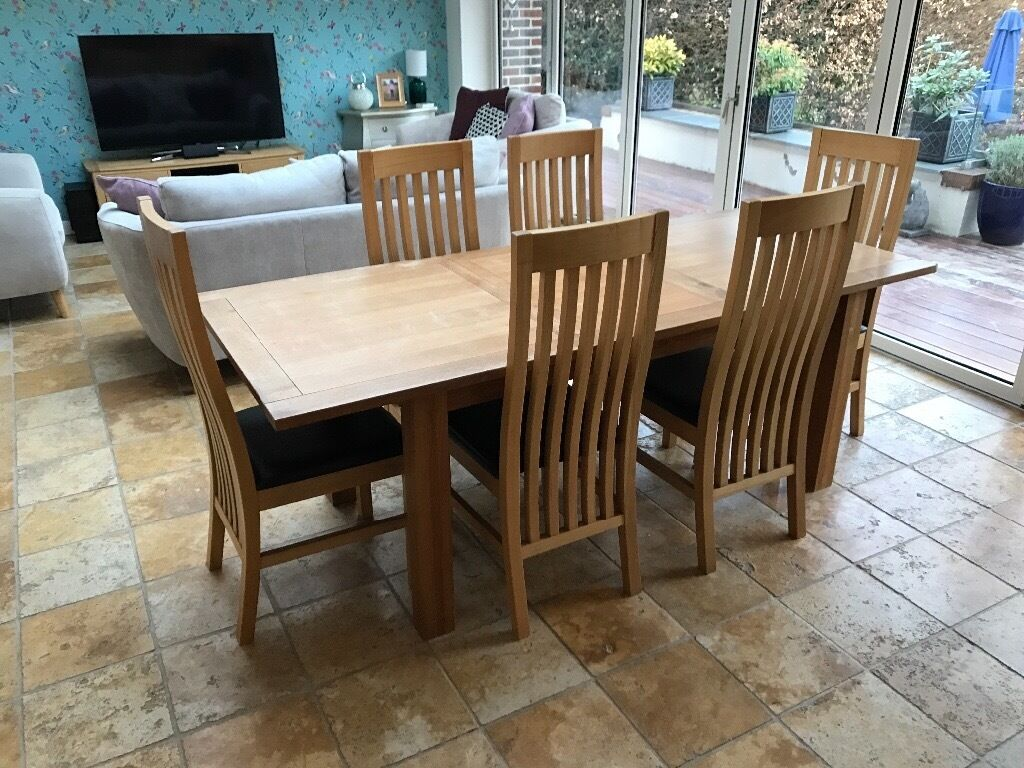 used oak table and chairs scoop back velvet dining next cambridge solid extending with 6
