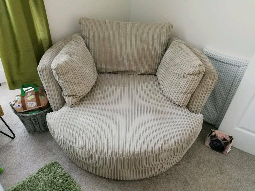 dfs corner sofa and swivel chair replacement air mattress rv bed large from in paignton devon gumtree