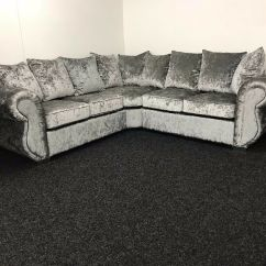 Chesterfield Corner Sofa Velvet Poet Dwr Fast Delivery Super Design Shannon Set