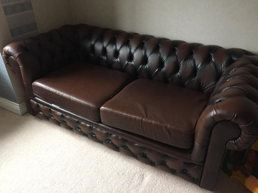 dark grey leather chesterfield sofa large throw overs for sofas brown bed in st austell