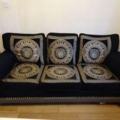 Versace Sofa Dark Brown Leather Repair Kit Set Couch Italian