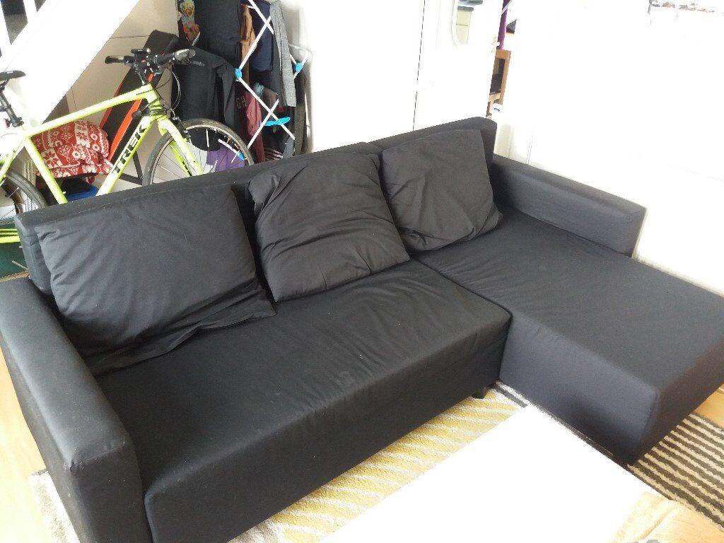 black fabric corner sofa bed set in range of 30000 ikea bargain splott