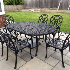 Outdoor Aluminium Table And Chairs How Much Does It Cost To Recane A Chair Nova Heritage Cast Set