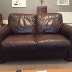 Sofitalia Leather Sofa 3 Seater And Recliner Chair Chairs