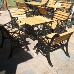 Cast Iron Table And Chairs Gumtree Detroit Tigers Chair 4 With Oak Slats In Lee On The