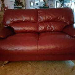 Genuine Leather Sofa Uk Cama Carrefour 2017 2 Seater In Sleaford Lincolnshire
