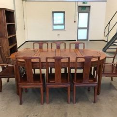 Chinese Rosewood Dining Table And Chairs Milano Office Zimbabwe Oval 8x In Plymouth