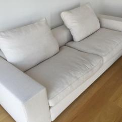 Cleaning White Fabric Sofa Leather Furniture Stores Nyc Modern Two Seater Designer In Canary