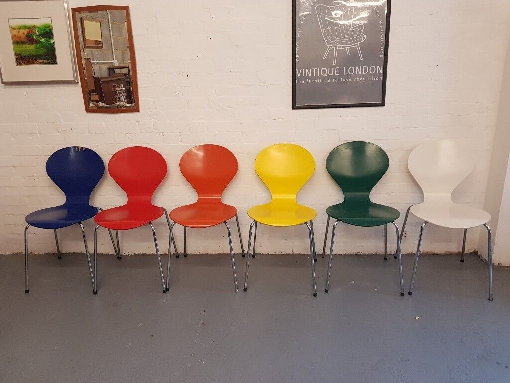 6 X Danish Mid Century Retro Stacking Chairs By Phoenix In South East London London Gumtree