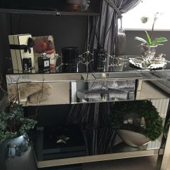 Mirrored Living Room Value City Furniture Packages Coffee Table Console Lamp Immaculate Condition