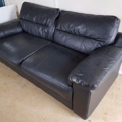 Black Leather Sofas On Gumtree Quality Sofa Brands Malaysia 2 Seater In Kirkliston Edinburgh