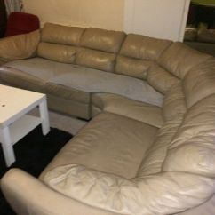 Secondhand Leather Sofas Sofa Bed Black And White Second Hand Corner In Greetland West
