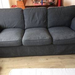 Gray Chair And Ottoman Slipcovers Who Reupholstered Chairs Ikea Ektorp Three Seater Sofa Covers Nordvalla Dark Grey
