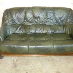 Dark Green Leather Sofa L Shaped Bed Dubai Sofas Designer