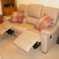 Albany Leather Sofa Havertys Reclining Sofas Parker Knoll Double Recliner Power Armchair Storage Foot Stool
