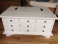 Laura Ashley White (Rare) Garratt Coffee Table 9 Drawer