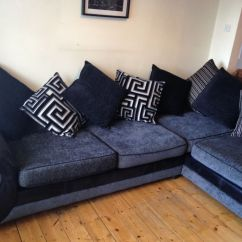 Dfs Sofas That Come Apart New York City Dare Left Corner Sofa Charcoal Grey And Black