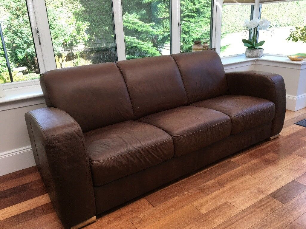 leather sofas glasgow area circle sofa sectional reid 3 seater in southside gumtree