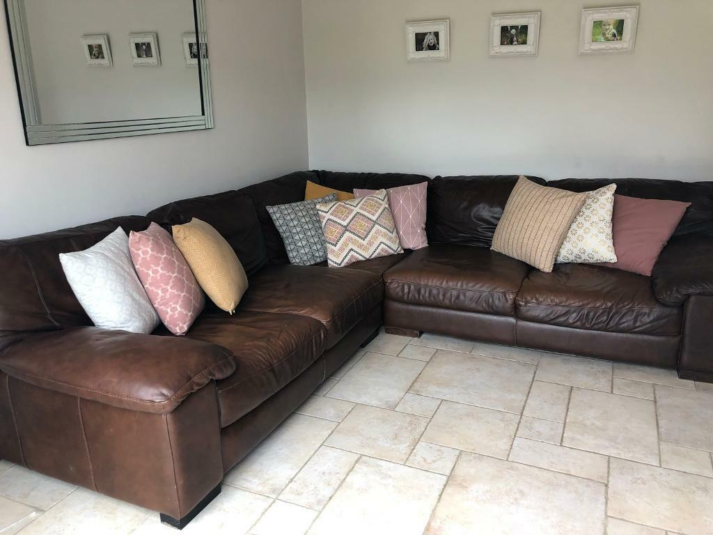 large square corner sofa lazy boy leather sofas loveseats dfs brown in portadown county armagh