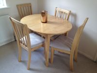 Homebase Banbury Extending Dining Table and 4 chairs | in ...