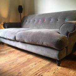 Deep Leather Sofas Uk Sleeper Sofa Tampa Fl Dfs Grey With Multi Coloured Button. Seats 4. Local ...
