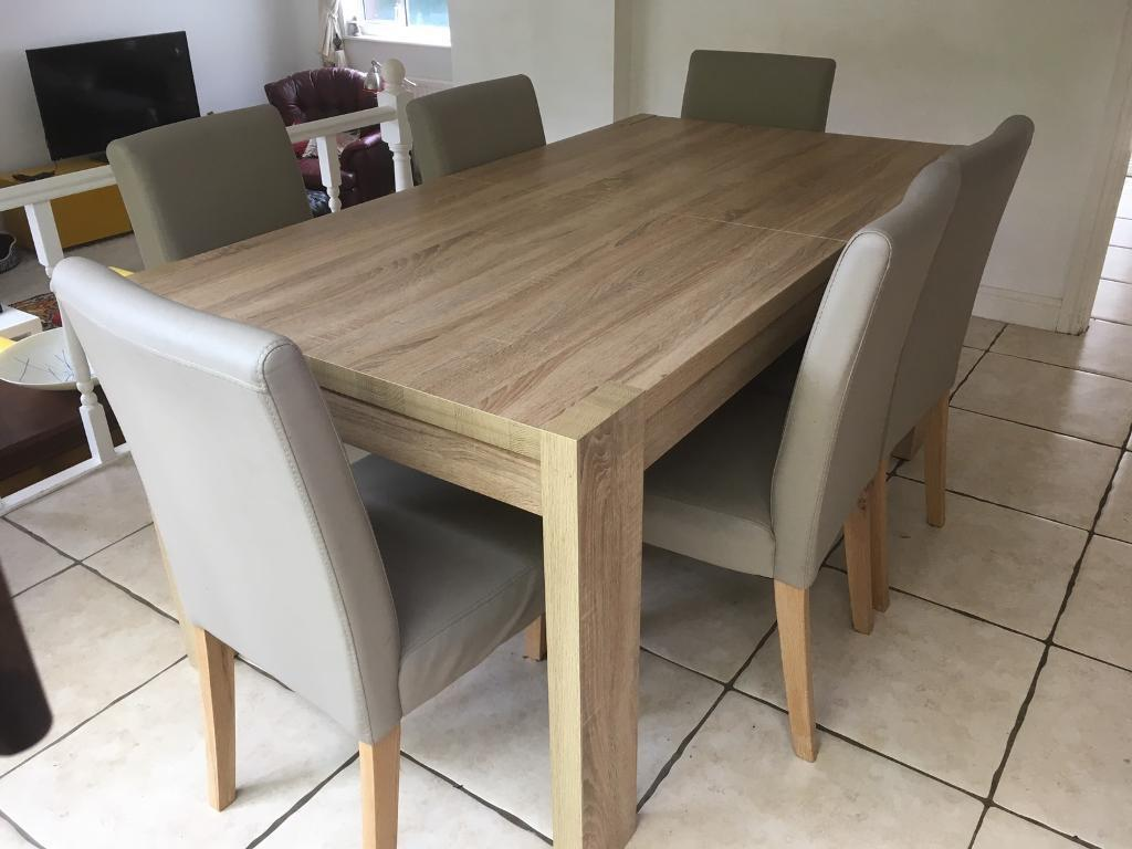 Next furniture full dining room set table and chairs