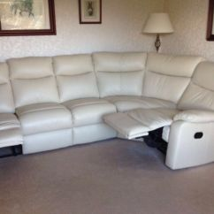 100 Real Leather Corner Sofa Replacement Outdoor Cushions Uk Harvey 39s Cream Reclining