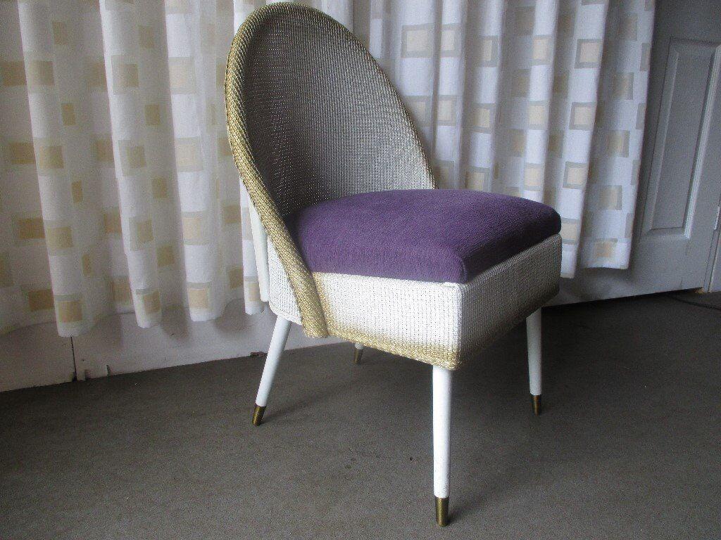 bedroom chair gumtree ferndown inexpensive covers vintage lloyd loom style retro padded