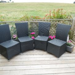 Woven Plastic Garden Chairs Pink Retro Chair Four Rattan In Steyning West Sussex