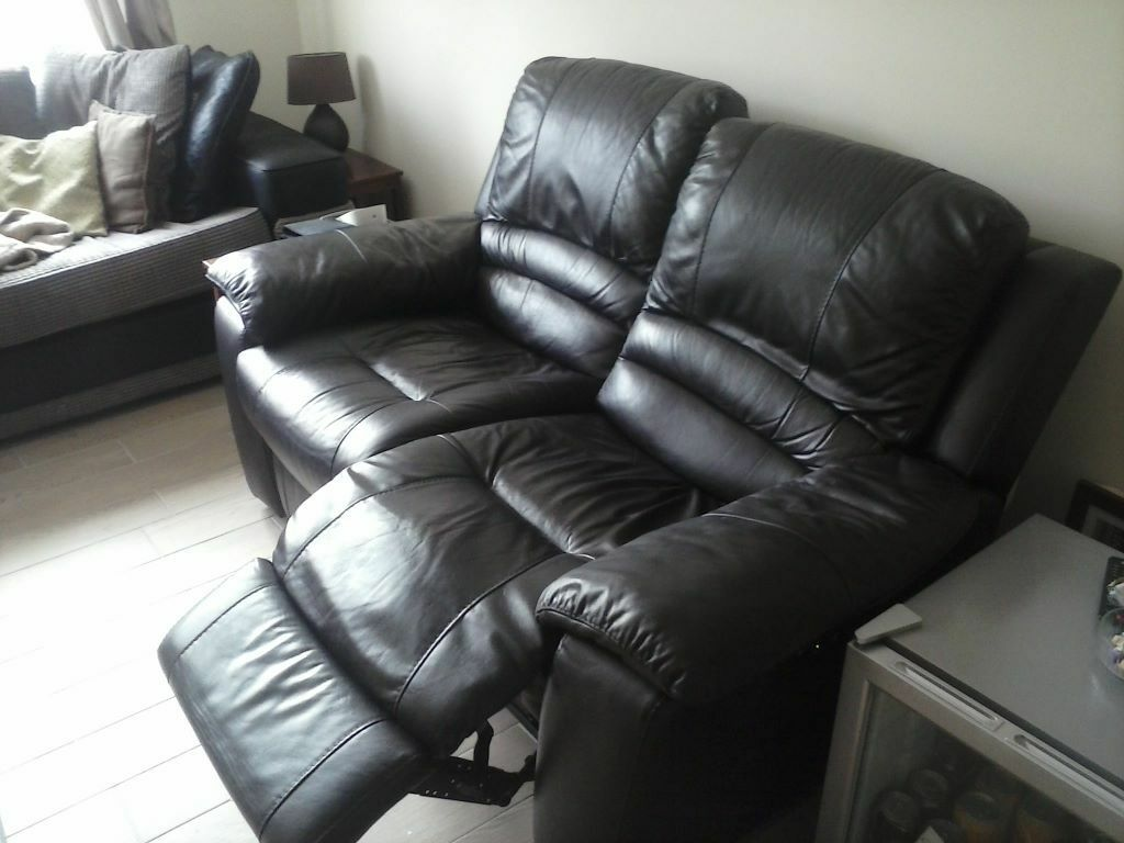 two seater recliner sofa gumtree fur 1 person dfs guild 2 power for sale in locks