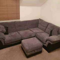 Dfs Corner Sofa Grey Fabric Living Room With White In Inverurie Aberdeenshire Gumtree
