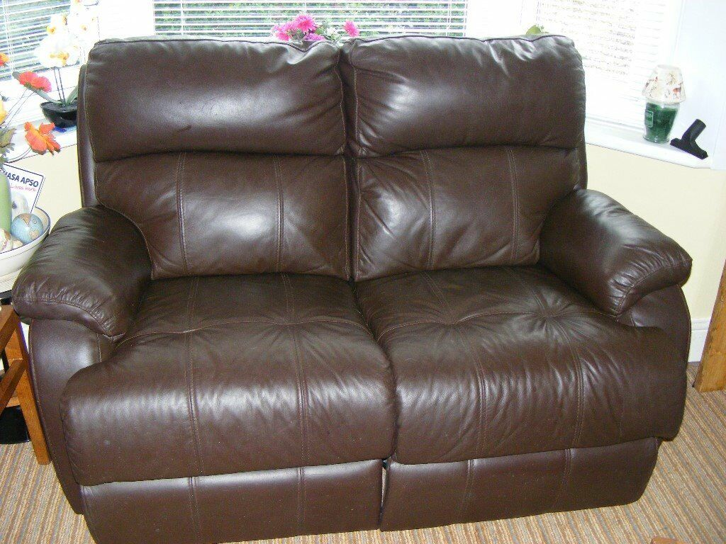 two seater recliner sofa gumtree gina ii microfiber queen sleeper 2 brown leather both seats are electric