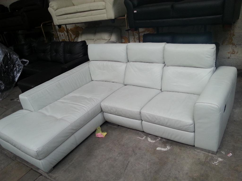 white leather sofa furniture village 2 seater exdisplay st lucia corner electric recliner