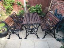 heavy cast iron garden furniture