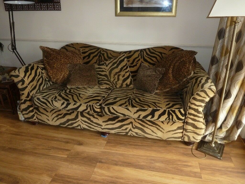 tiger print sofa set best for under 1000 prints in scotland sofas armchairs
