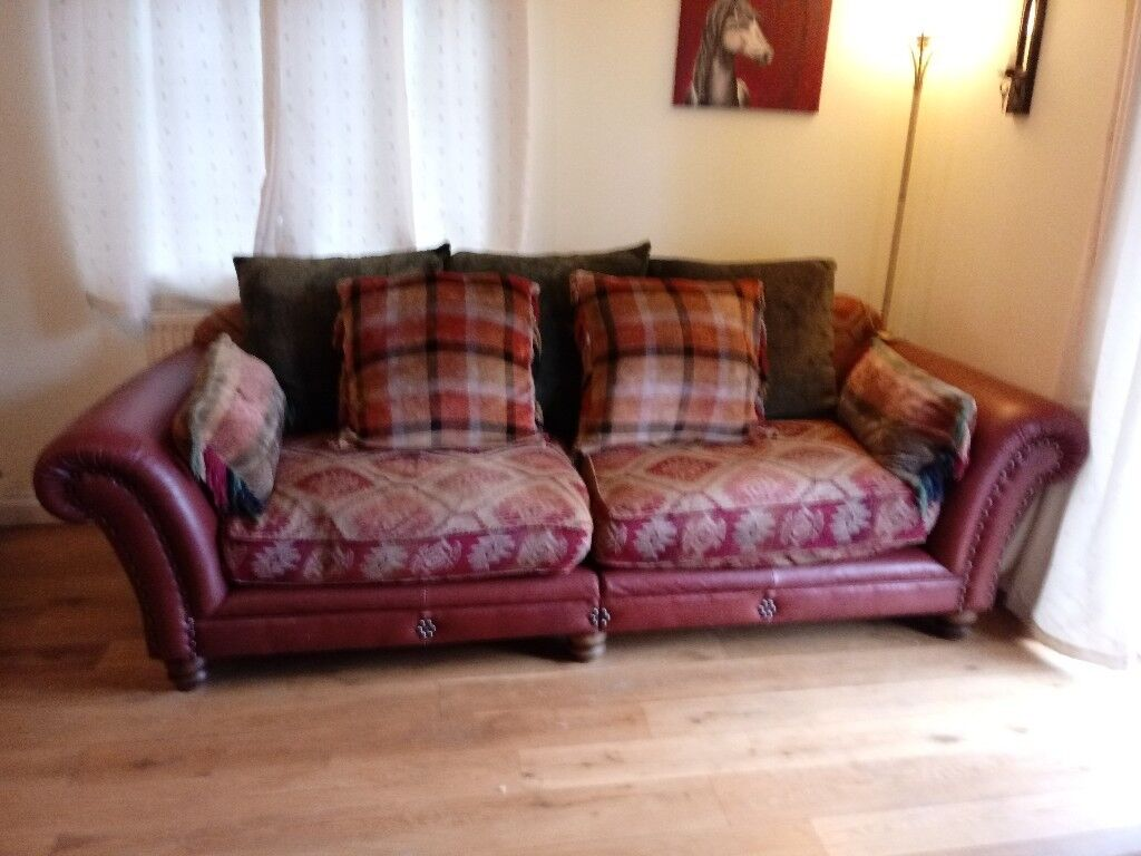 feather sofa cushions willow table 2 leather sofas with filled chenille seat