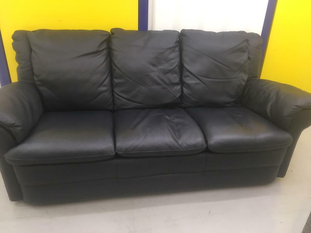 black leather sofas on gumtree sofa seat cover replacement 3 seater in ipswich suffolk