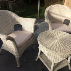 Cast Iron Table And Chairs Gumtree Chair Yoga For Seniors Breathing Exercises 6 Marks Spencer Rattan White Conservatory 2 Tables | In Leeds, West Yorkshire ...