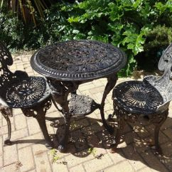 Cast Iron Table And Chairs Gumtree Black Accent Under 100 Garden Set Quotbritannia Quot 2