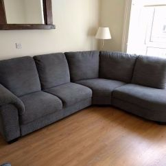 Large Dark Grey Corner Sofa Brown Sofas Ikea Friheten Bed With Storage