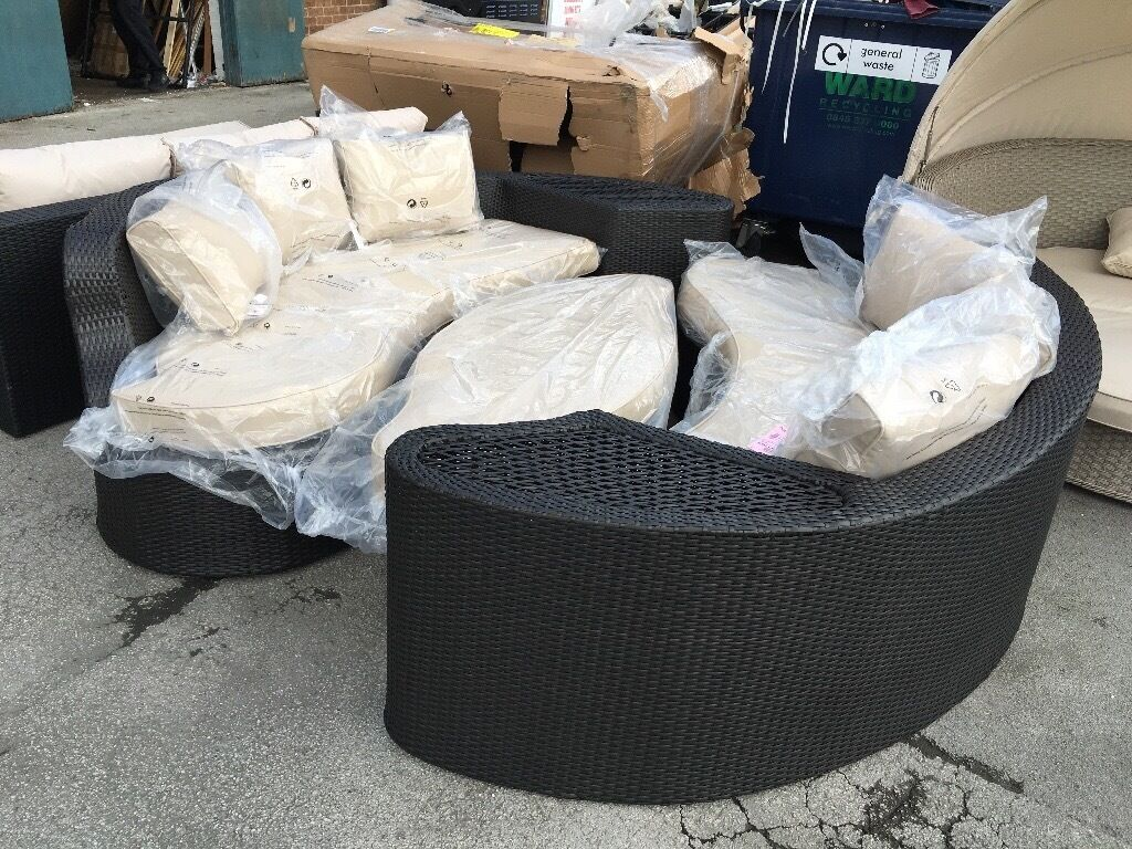 oxford 4 piece brown rattan effect sofa set cama espuma easy 6 seater patio in