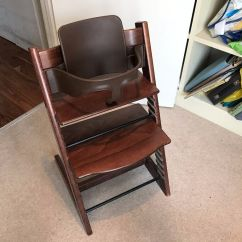 Tripp Trapp High Chair Covers For Cheap Stokke In Walnut With Matching Baby