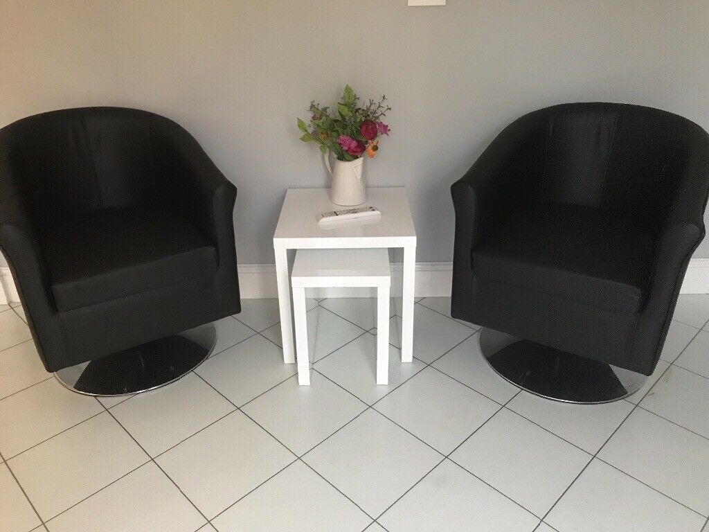 swivel tub chairs gaming for pc immaculate black faux leather in newcastle tyne