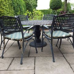 Cast Iron Table And Chairs Gumtree Pool Chaise Lounge Chair Metal Patio Garden In Stratford Upon