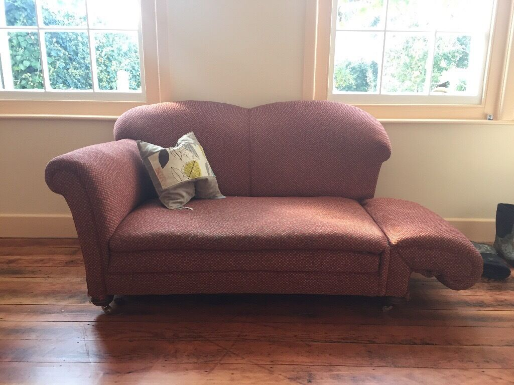 grey leather chesterfield sofa dfs bed in small bedroom vintage sofa. 1930s drop arm | barton on sea ...